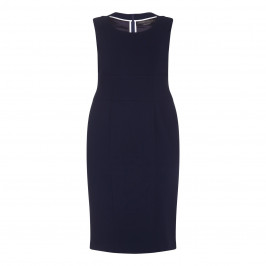 Marina Rinaldi navy sheath DRESS optional sleeves - Plus Size Collection