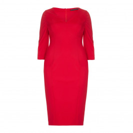 Marina Rinaldi red fitted jersey crepe DRESS - Plus Size Collection
