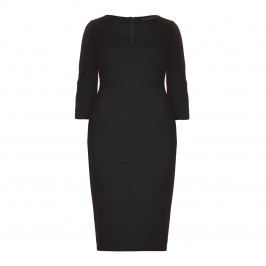 Marina Rinaldi black fitted jersey crepe DRESS - Plus Size Collection