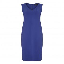 MARINA RINALDI V-NECK SHEATH DRESS SAPPHIRE WITH OPTIONAL SLEEVES - Plus Size Collection
