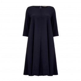 MARINA RINALDI NAVY A-LINE DRESS - Plus Size Collection