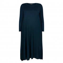 MARINA RINALDI TEAL KNIT DRESS - Plus Size Collection