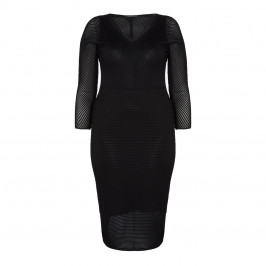 MARINA RINALDI BLACK KNIT DRESS