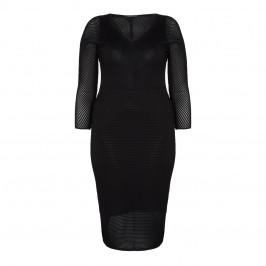 MARINA RINALDI BLACK KNIT DRESS - Plus Size Collection