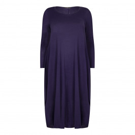 MARINA RINALDI PURPLE KNIT DRESS - Plus Size Collection