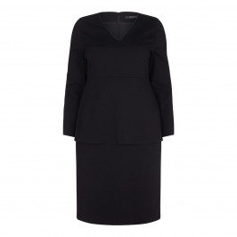 MARINA RINALDI BLACK PEPLUM DRESS - Plus Size Collection