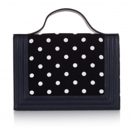 MARINA RINALDI navy polka dot handBAG - Plus Size Collection