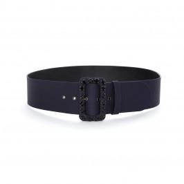 MARINA RINALDI BELT WITH JEWEL EMBELLISHED BUCKLE - Plus Size Collection