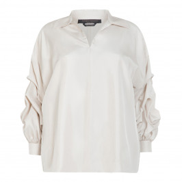 MARINA RINALDI PURE SILK BLOUSE  - Plus Size Collection