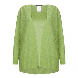 Marina Rinaldi green lurex cardigan and vest twinset - Plus Size Collection