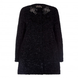 Marina Rinaldi Embellished Neck Coat - Plus Size Collection