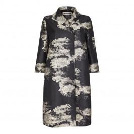 Marina Rinaldi Fil Coupé Jacquard Duster Coat - Plus Size Collection