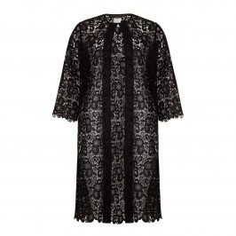 MARINA RINALDI BLACK LACE COAT - Plus Size Collection
