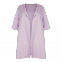 MARINA RINALDI WOOL CASHMERE BLEND COAT WISTERIA - Plus Size Collection