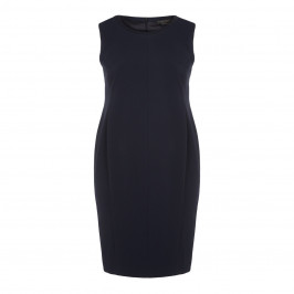 MARINA RINALDI NAVY SHEATH DRESS WITH OPTIONAL SLEEVES - Plus Size Collection