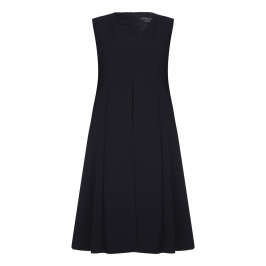 Marina Rinaldi v-neck black DRESS with optional sleeves - Plus Size Collection