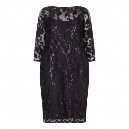 Marina Rinaldi black sequinned lace DRESs - Plus Size Collection
