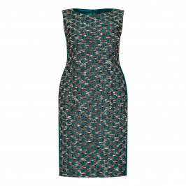 Marina Rinaldi green brocade sheath dress with optional sleeves - Plus Size Collection