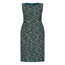 Marina Rinaldi green brocade sheath dress with optional sleeves - Plus Size Collection