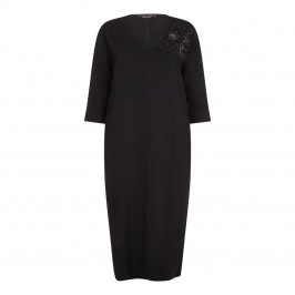 Marina Rinaldi black embellished DRESS - Plus Size Collection