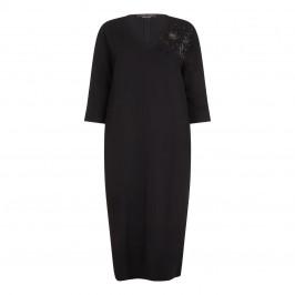 Marina Rinaldi black beaded DRESS - Plus Size Collection