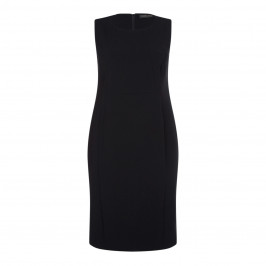 MARINA RINALDI BLACK TAILORED SHIFT DRESS OPTIONAL SLEEVE
