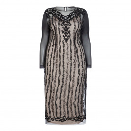 MARINA RINALDI LACE SEQUIN GOWN WITH BLACK AND NUDE SLIP OPTIONS - Plus Size Collection