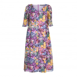 MARINA RINALDI FLORAL PRINT TEA DRESS - Plus Size Collection