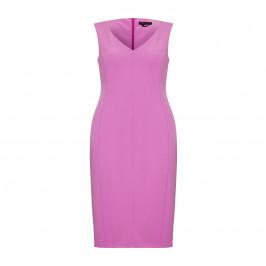 MARINA RINALDI V-NECK SHIFT DRESS OPTIONAL SLEEVE - Plus Size Collection