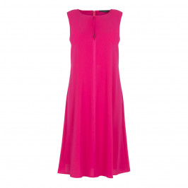 MARINA RINALDI FUCHSIA DRESS WITH OPTIONAL SLEEVES  - Plus Size Collection