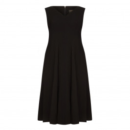 MARINA RINALDI DRESS WITH OPTIONAL SLEEVE BLACK - Plus Size Collection
