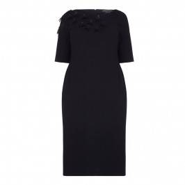 Marina Rinaldi asymmetric neckline applique DRESS - Plus Size Collection