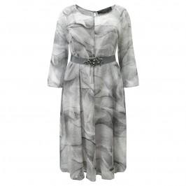 Marina Rinaldi grey silk georgette dress - Plus Size Collection