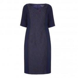 Marina Rinaldi navy brocade panel DRESS - Plus Size Collection