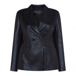 MARINA RINALDI NAVY SHIMMER BLAZER - Plus Size Collection