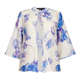 MARINA RINALDI FLORAL PRINT JACKET - Plus Size Collection