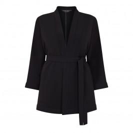MARINA RINALDI KIMONO STYLE JACKET BLACK - Plus Size Collection