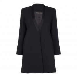 Marina Rinaldi Long Black Tailored Jacket - Plus Size Collection
