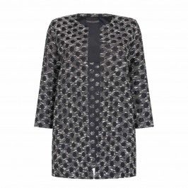 MARINA RINALDI CORDELIA JACQUARD DUSTER COAT - Plus Size Collection