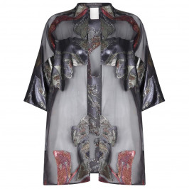 Marina Rinaldi Floral Devore Organza Jacket - Plus Size Collection