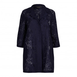 Marina Rinaldi LONG navy lace JACKET - Plus Size Collection