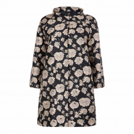 MARINA RINALDI JACQUARD DUSTER COAT INK BLUE - Plus Size Collection