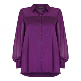 MARINA RINALDI SATIN SHIRT PURPLE