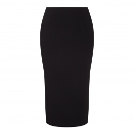 Marina Rinaldi black pencil SKIRT with vent - Plus Size Collection