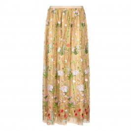MARINA RINALDI FLORAL EMBROIDERED TULLE MAXI SKIRT - Plus Size Collection