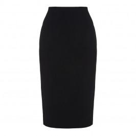 MARINA RINALDI BLACK PENCIL SKIRT WITH BACK SPLIT  - Plus Size Collection