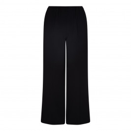 Marina Rinaldi black crepe wide leg TROUSERS - Plus Size Collection