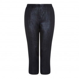 MARINA RINALDI NAVY SHIMMER TROUSER - Plus Size Collection