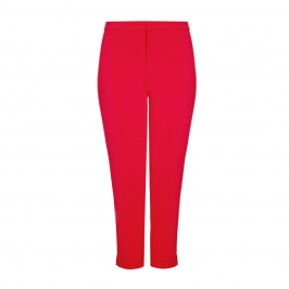 MARINA RINALDI RED STRAIGHT LEG TROUSER - Plus Size Collection