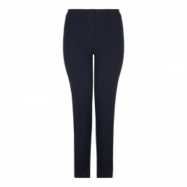 MARINA RINALDI navy narrow leg TROUSERS  - Plus Size Collection